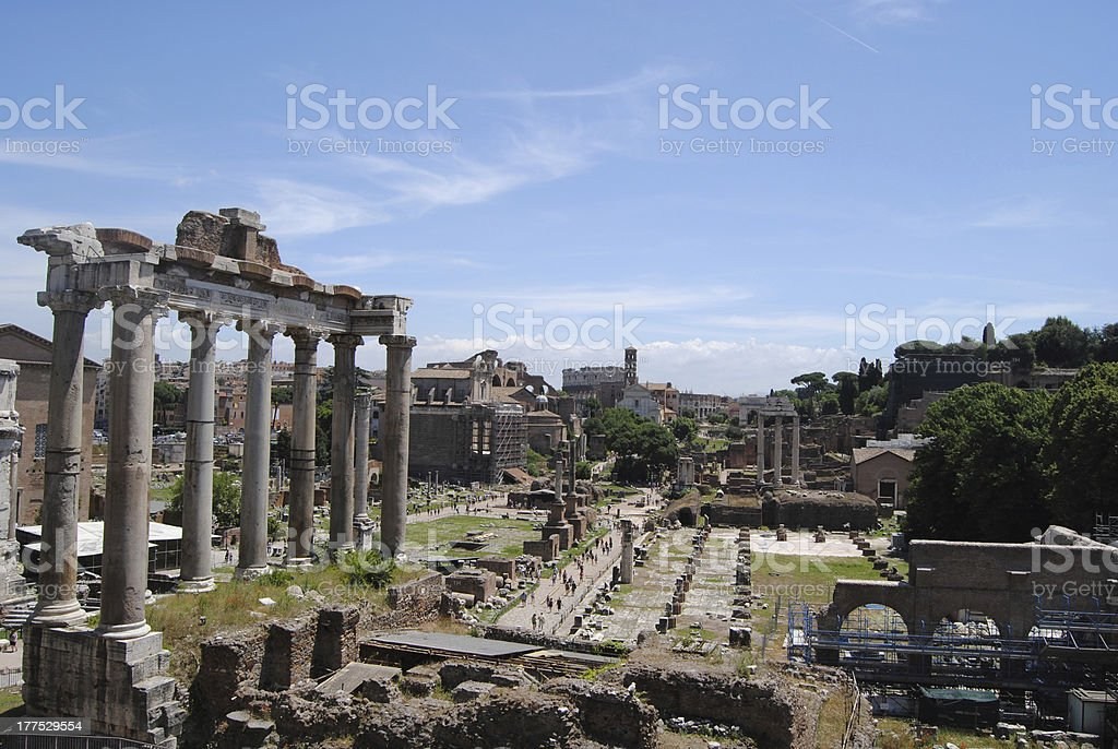 General view of the Roman Forum. royalty-free stock photo