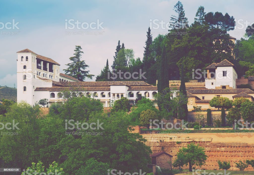 General view to  Palace of Generalife stock photo