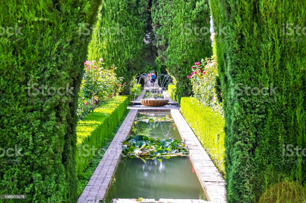 Generalife Gärten in der Nähe von Alhambra, Granada, Spanien - Lizenzfrei Alhambra - Granada Stock-Foto