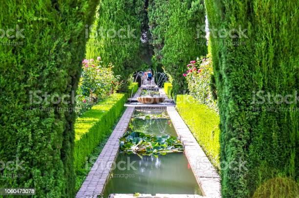 Generalife Gärten In Der Nähe Von Alhambra Granada Spanien Stockfoto und mehr Bilder von Alhambra - Granada