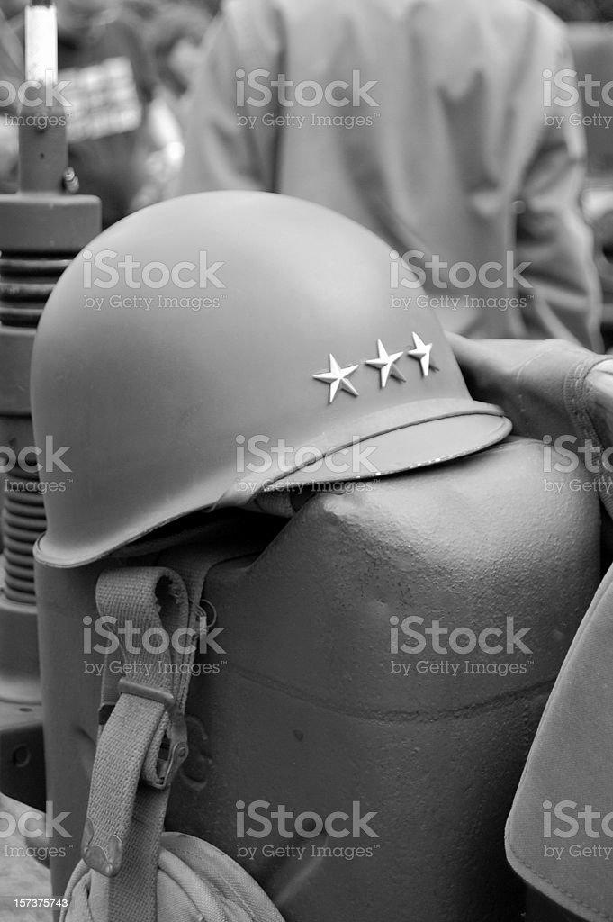 General's Helmet. stock photo