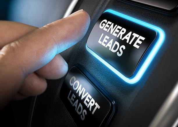 generating and converting sales leads - plomb en métal photos et images de collection