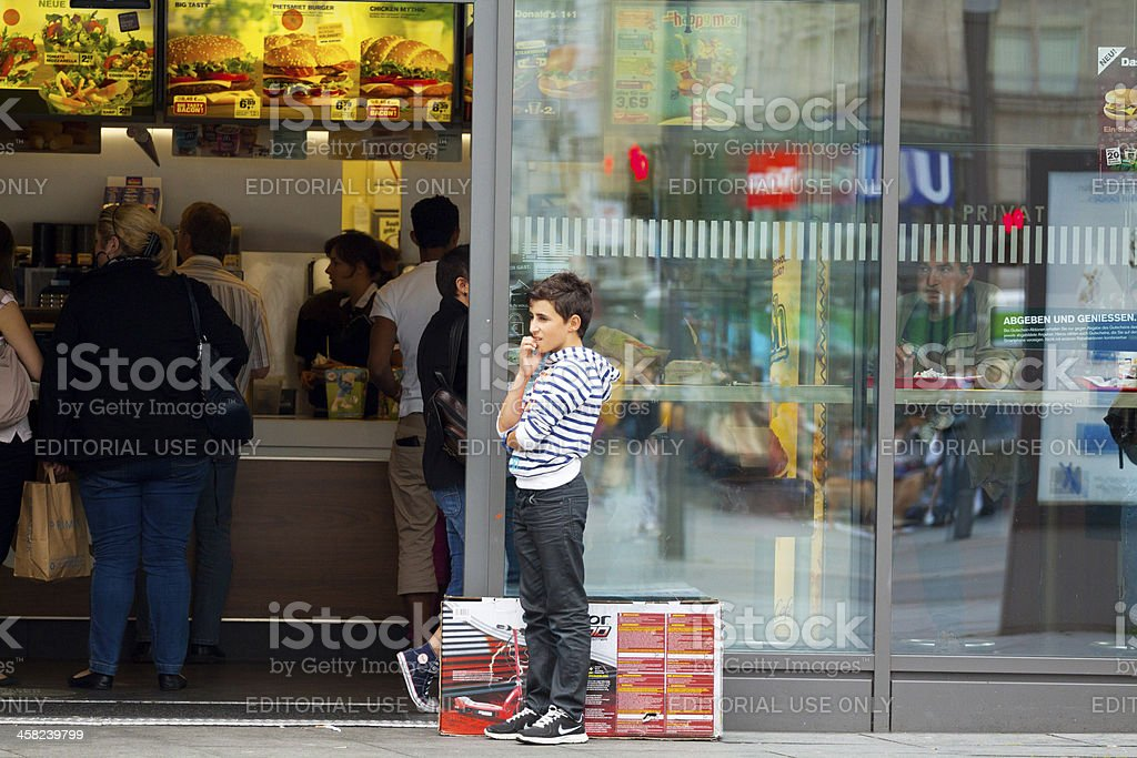 Generation fast food royalty-free stock photo