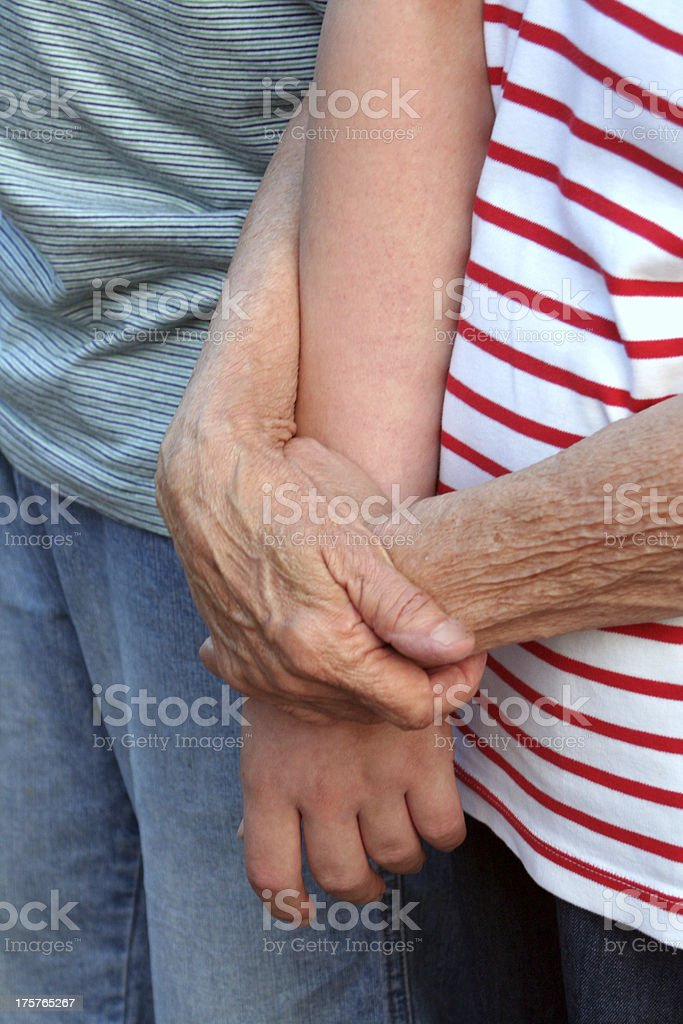 Generation Hands royalty-free stock photo
