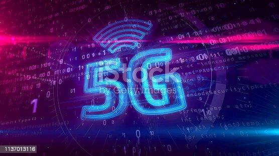 istock 5G 5 generation network mobile symbol hologram 1137013116