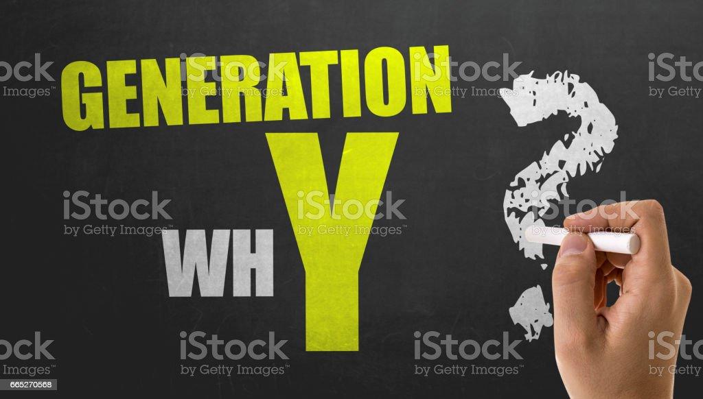 Generation whY? stock photo