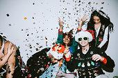 ジェネレーション Z 友達クリスマス写真ブース