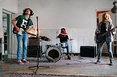 Generation Z Music Band On Rehearsal