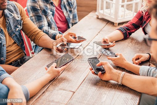 istock Generation Z, social media, mobile phones, technology addiction, modern young people concept 1156712269