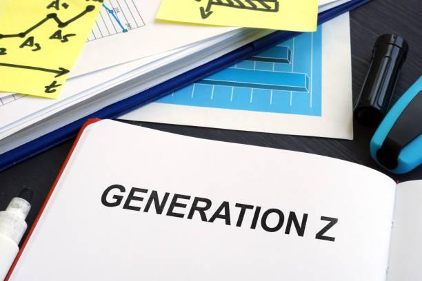 ジェネレーション z の本で書かれました。マーケティング ・ コンセプト。 - gen z ストックフォトと画像