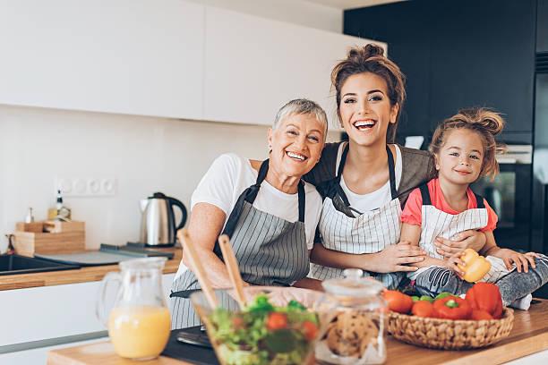 generations of femininity - low carb kekse stock-fotos und bilder