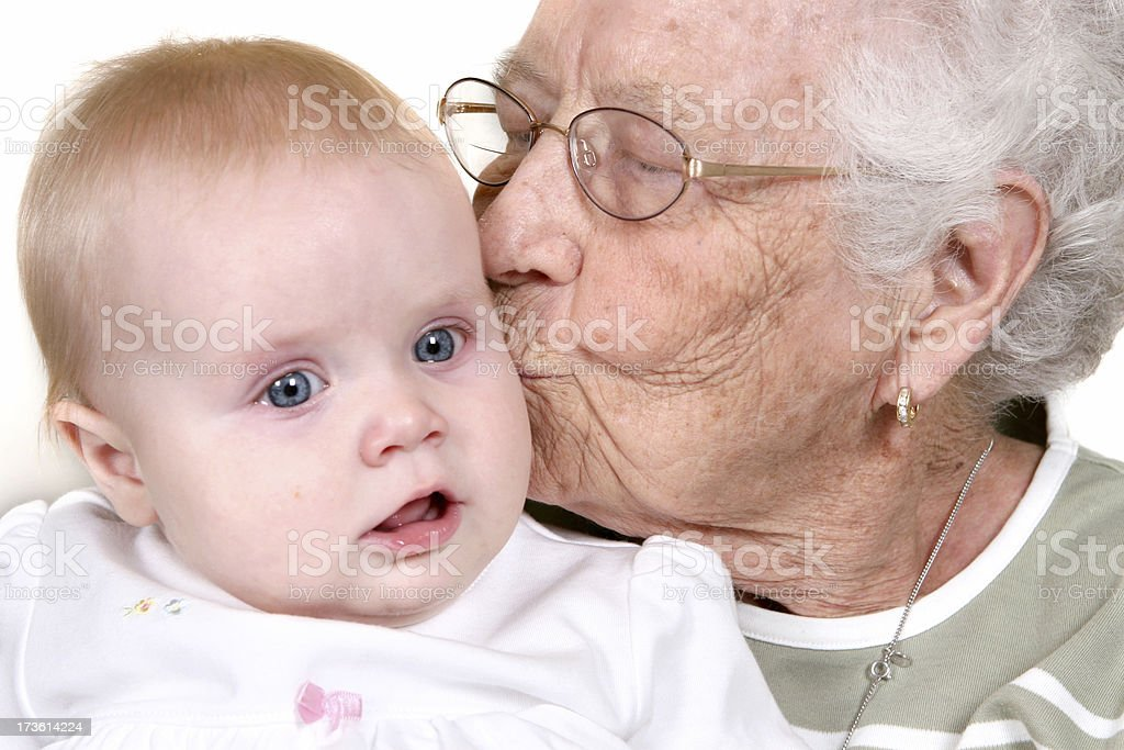 Generations of Kisses royalty-free stock photo
