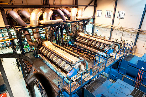 generator - cogeneration plant stock photos and pictures