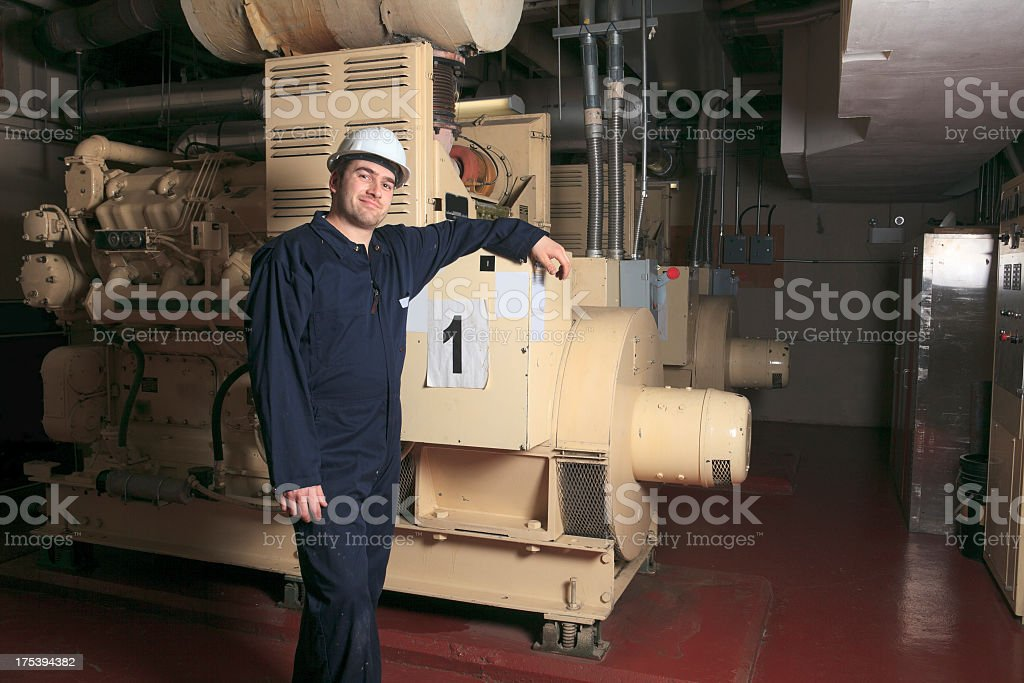 Generator Room - Working On royalty-free stock photo