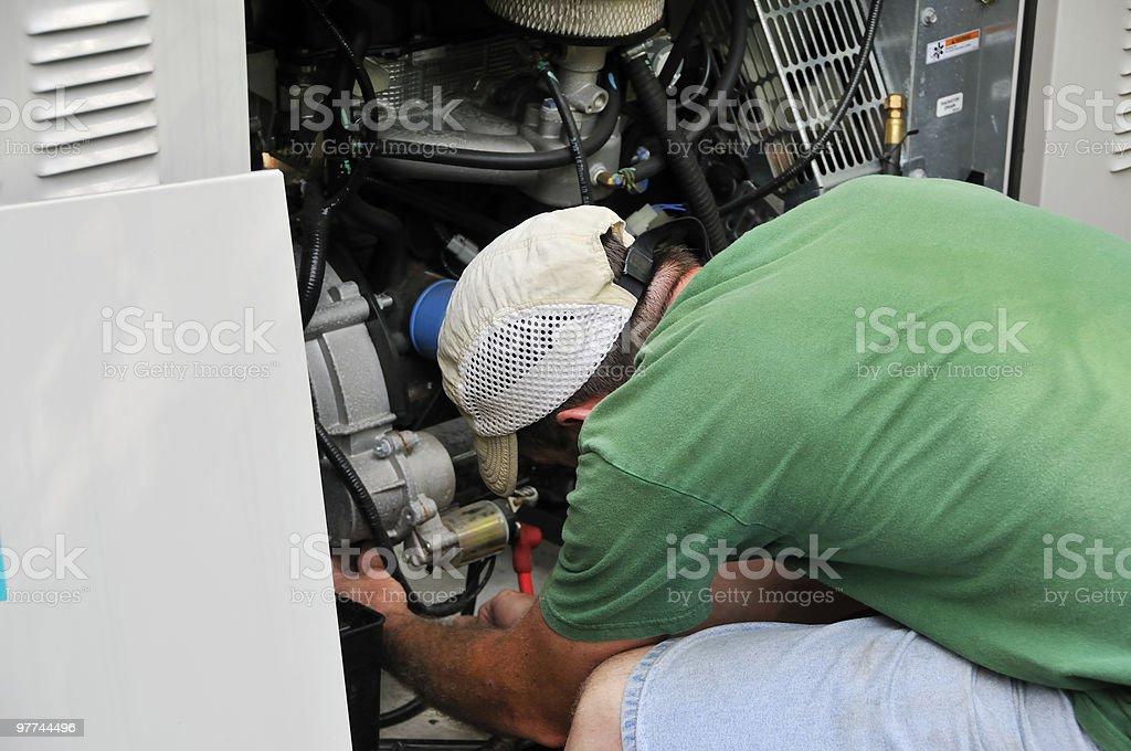 Generator Technician stock photo