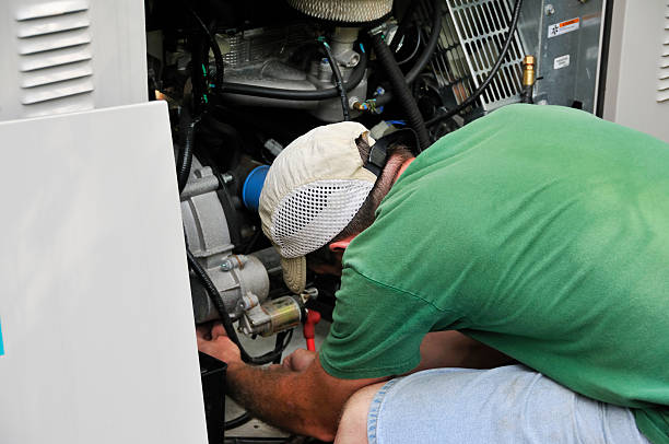generator technician - mike cherim stock pictures, royalty-free photos & images