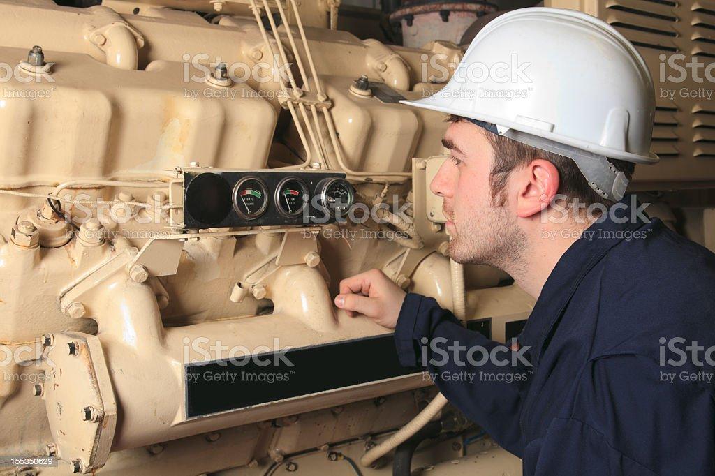Generator - Worker royalty-free stock photo