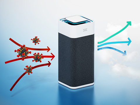 Generic air purifier cleaning viruses and bacteria.