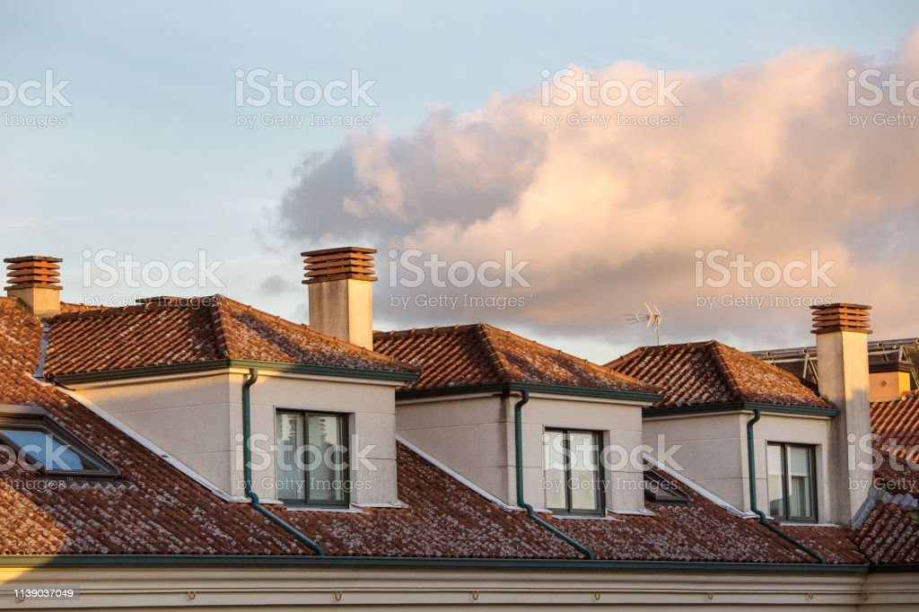 generic Apartment Building With Dormer Windows stock photo