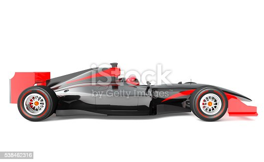 istock Generic black and red race car 538462316