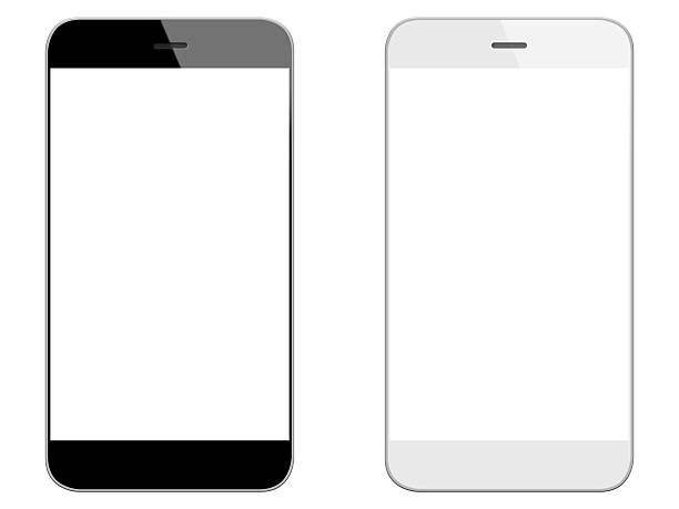 Generic black and white smart phones stock photo