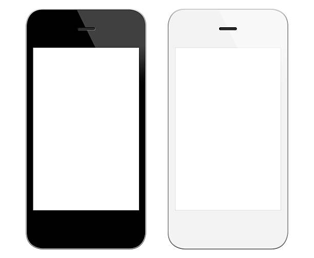 Generic black and white smart phones stock photo