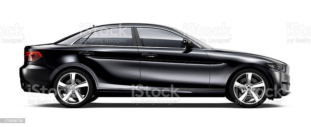 Allgemeiner schwarzen Auto-Seitenansicht – Foto