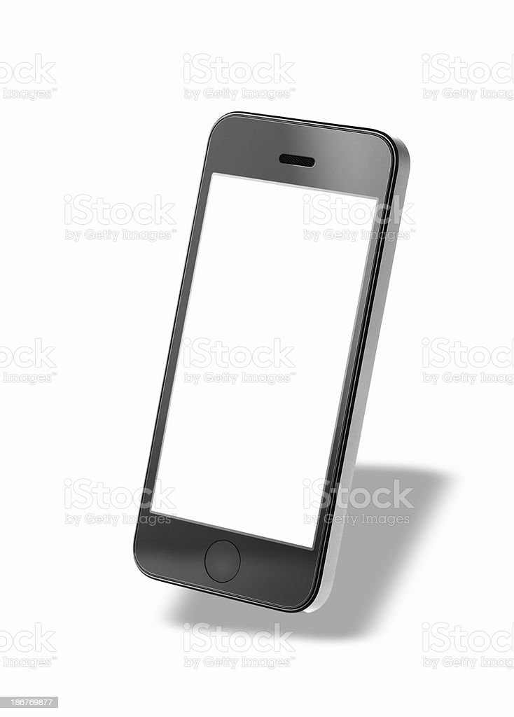 generic black Smartphone with clipping pathes on white stock photo