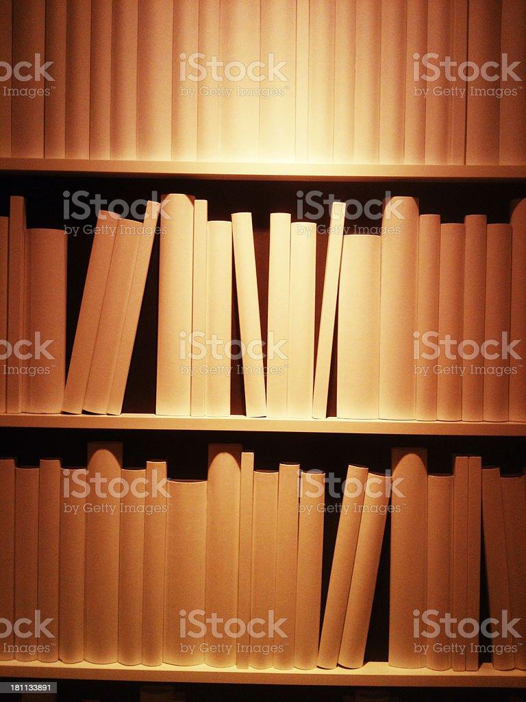 Generic books shelves royalty-free stock photo