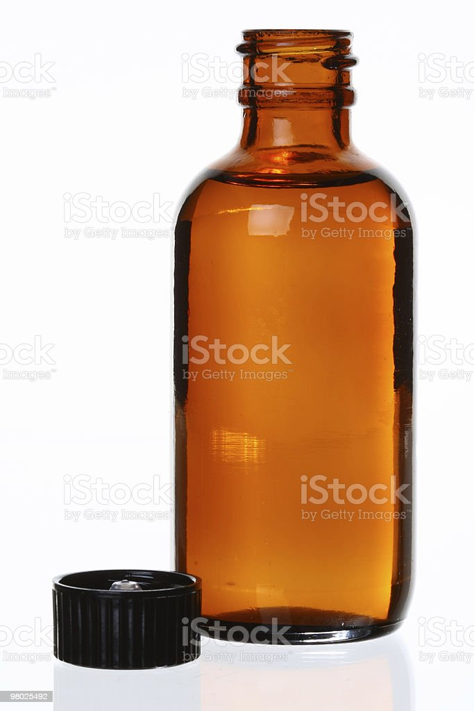 Generic Brown Medicinal Bottle royalty-free stock photo