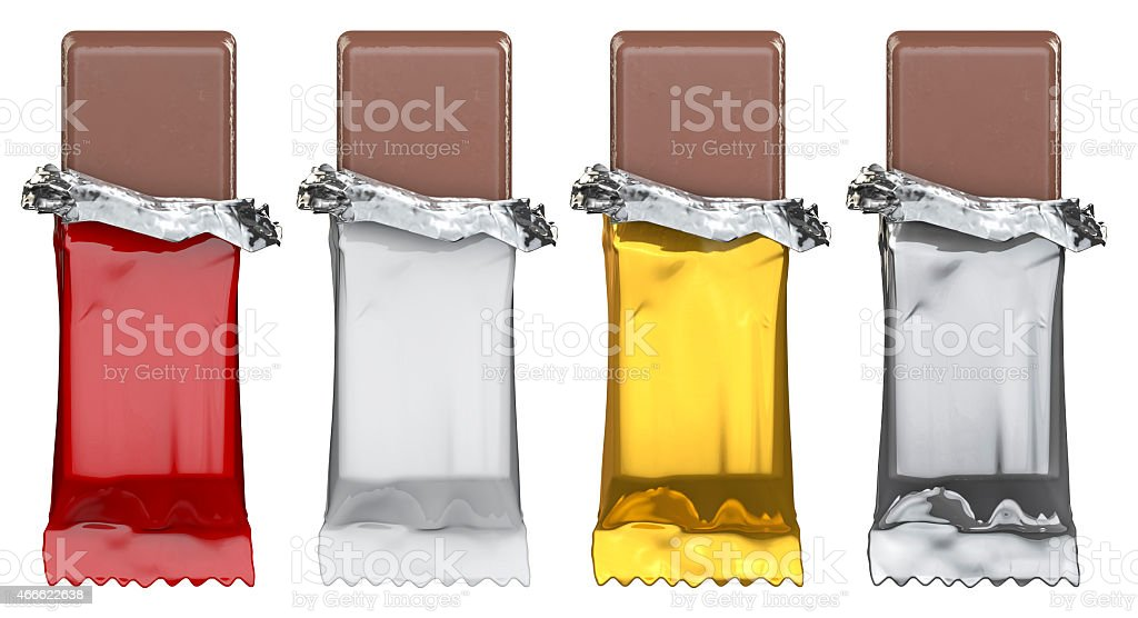 Generic candy bars, just add artwork stock photo