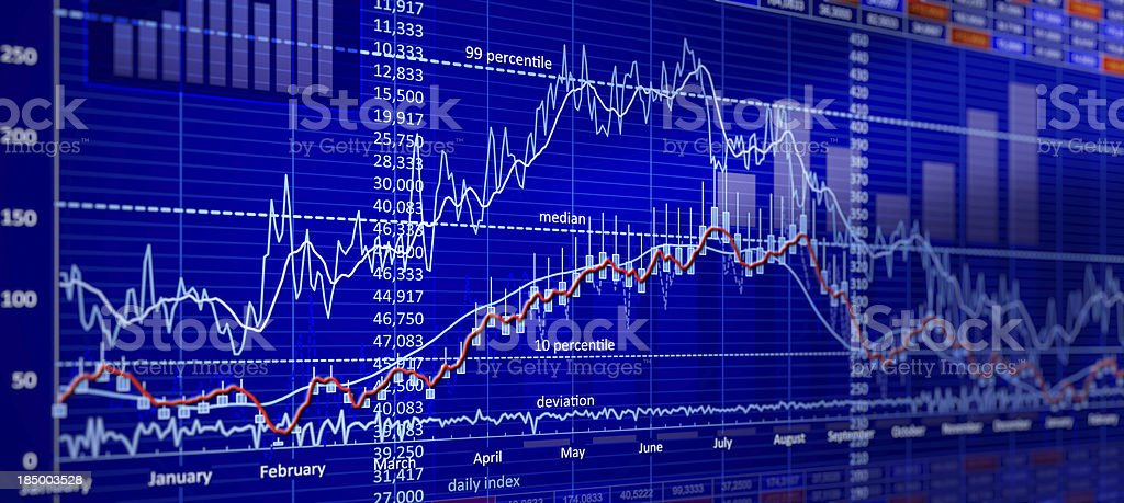 Generic Chart royalty-free stock photo