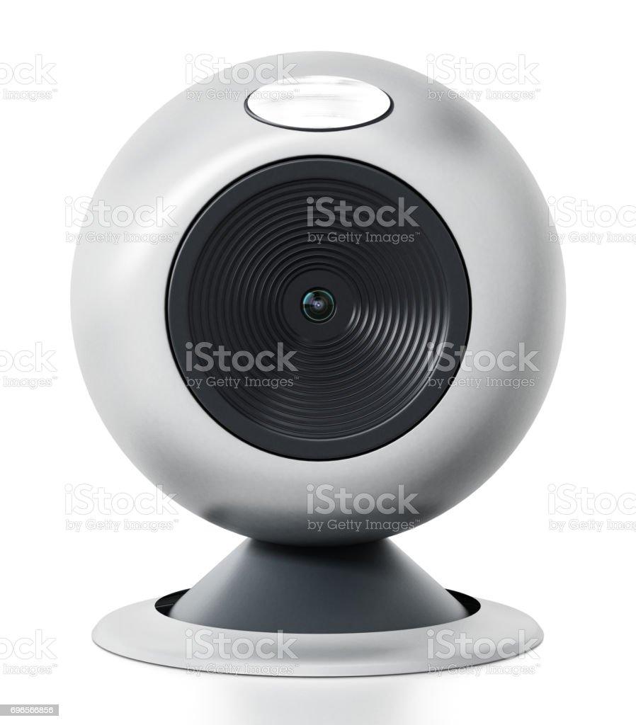 Generic computer webcam isolated on white - Foto stock royalty-free di Affari