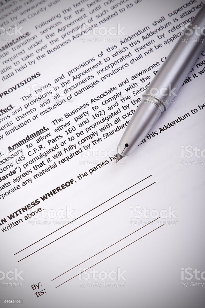 generic contract royalty-free stock photo
