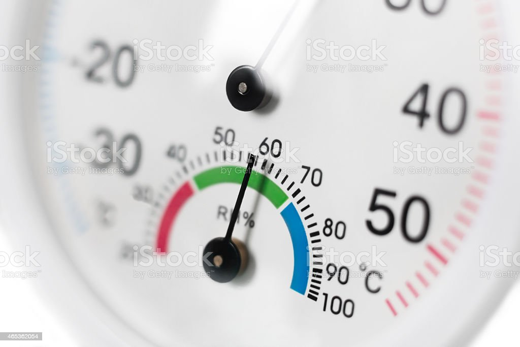 Generic Dial Hydrometer / Thermometer stock photo