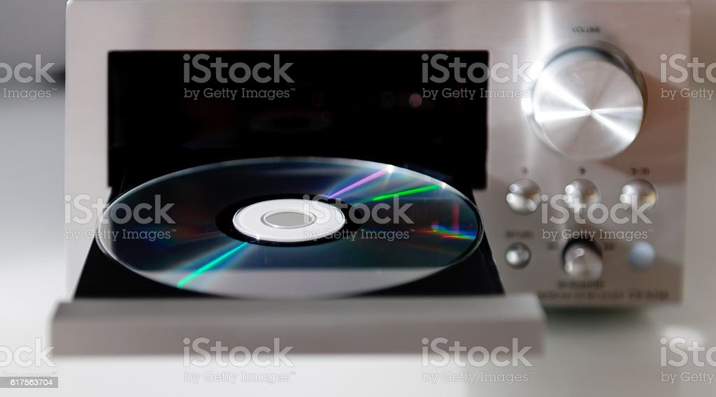 Generic Digital Hi-Fi CD Audio player compact disc music tray stock photo