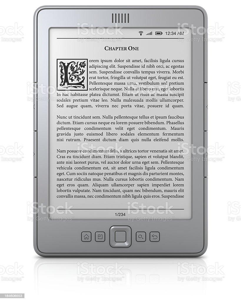 Allgemeiner book reader mit text – Foto