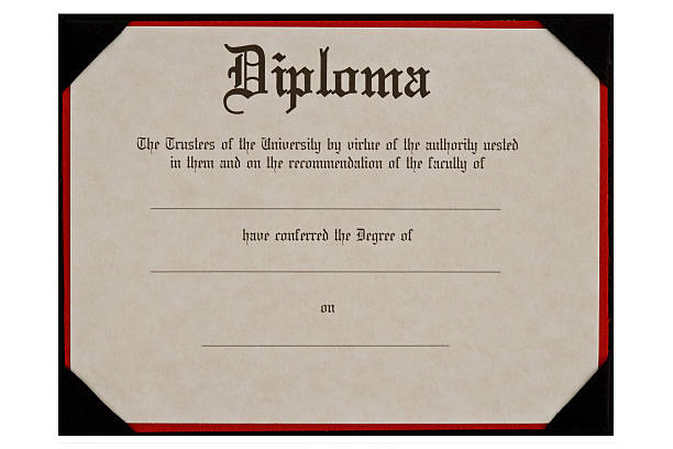 generic educational diploma - diploma stock photos and pictures