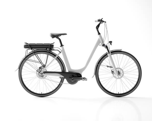 generisches elektro-fahrrad e-bike isoliert auf weißem hintergrund 3d abbildung - elektrorad stock-fotos und bilder