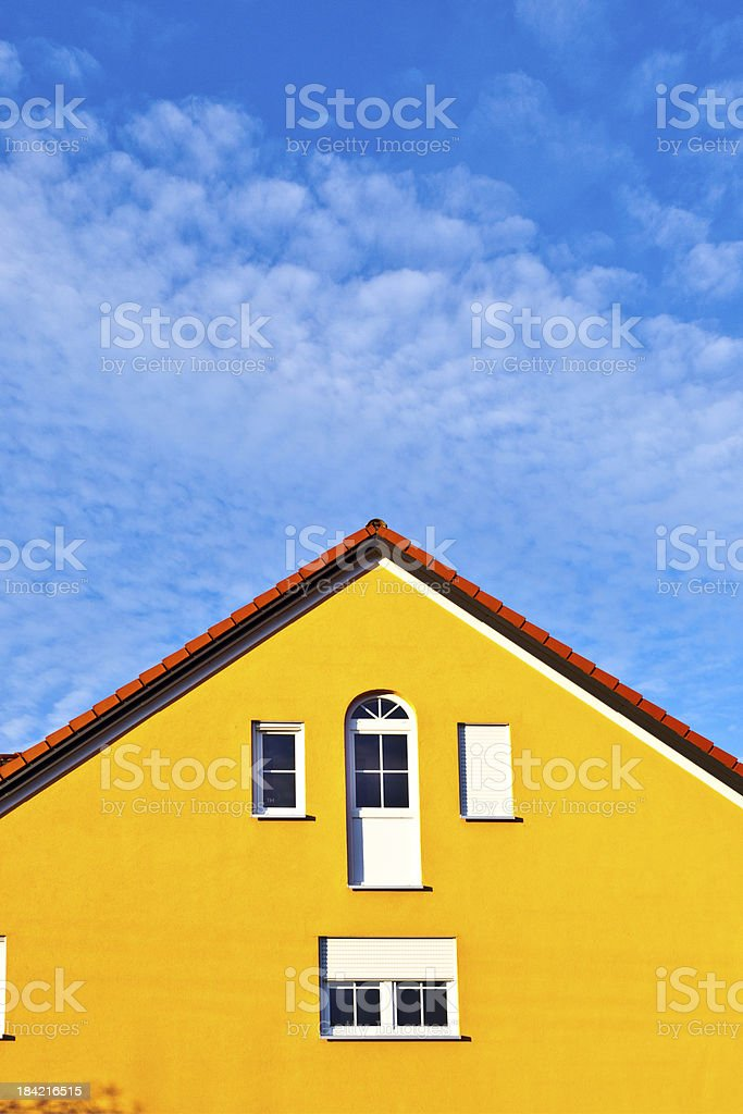 generic family home in suburban area stock photo