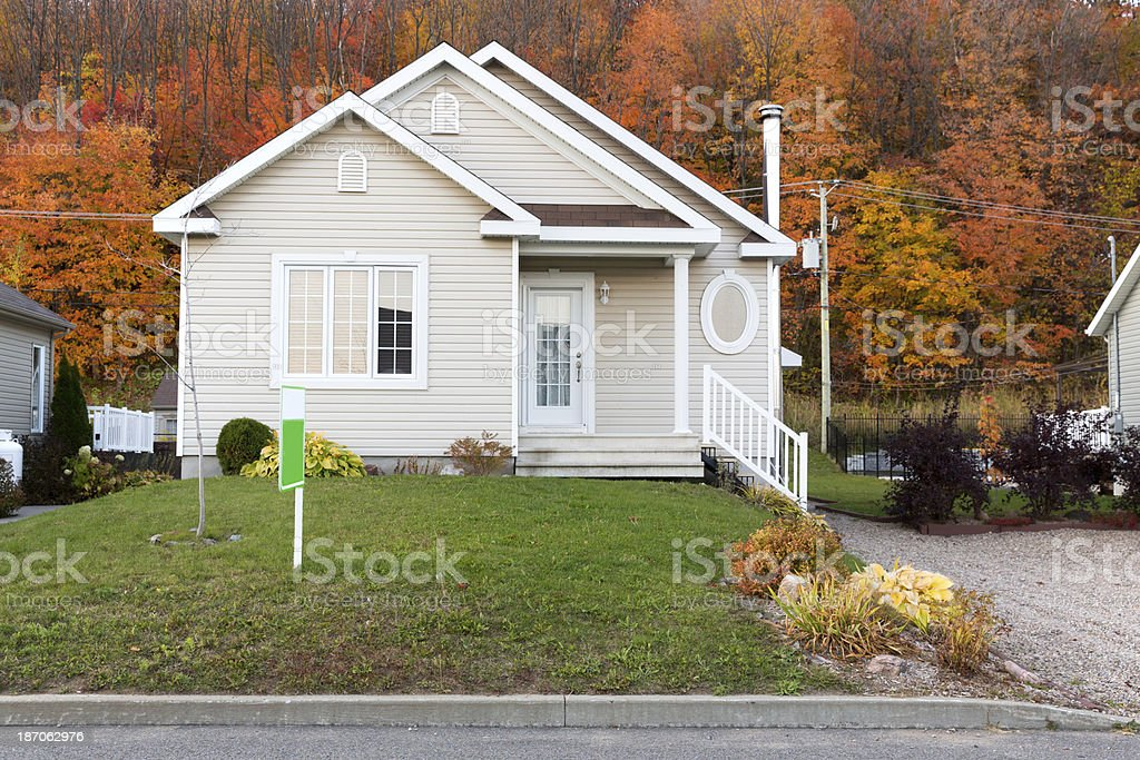 Generic Home for sale stock photo