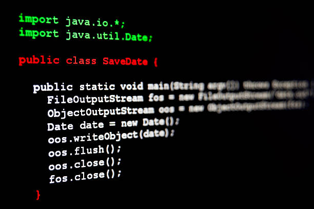 Generic Java code stock photo