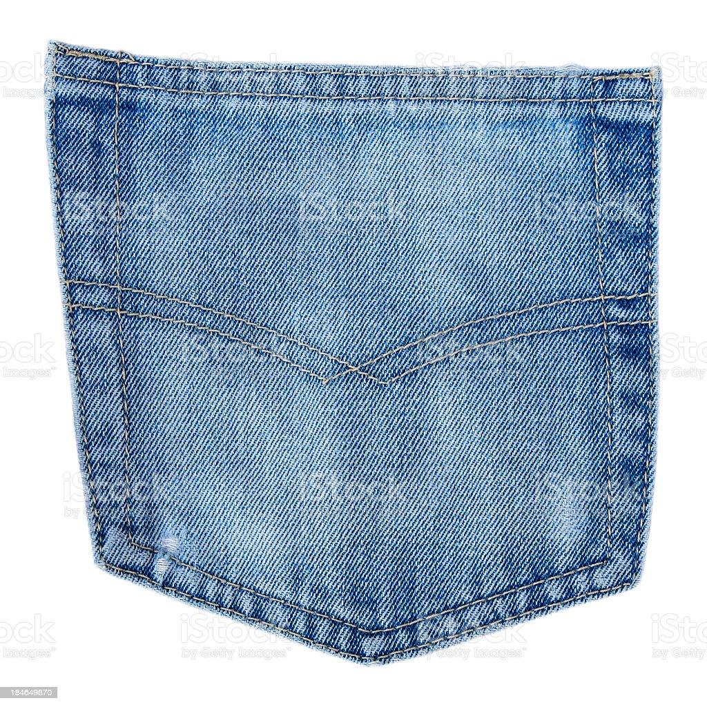 Generic jeans pocket stock photo