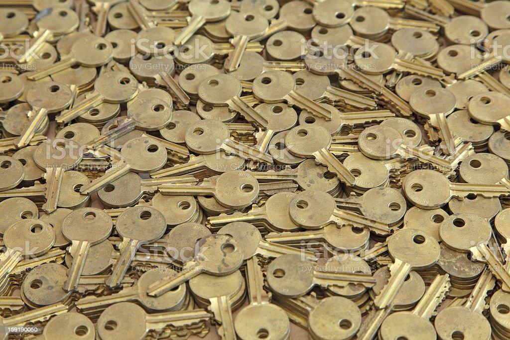 generic keys forming background! stock photo