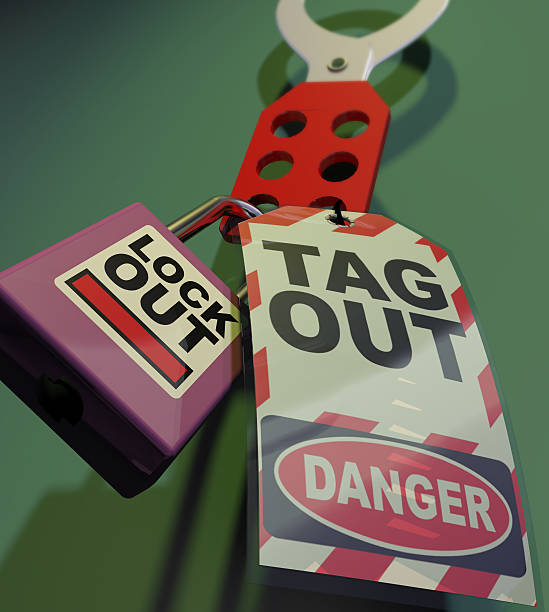 Generic Lockout Tagout. Generic Lockout Tagout. Safety Measures used to secure equipment while under repair, inspection or out of service lockout stock pictures, royalty-free photos & images