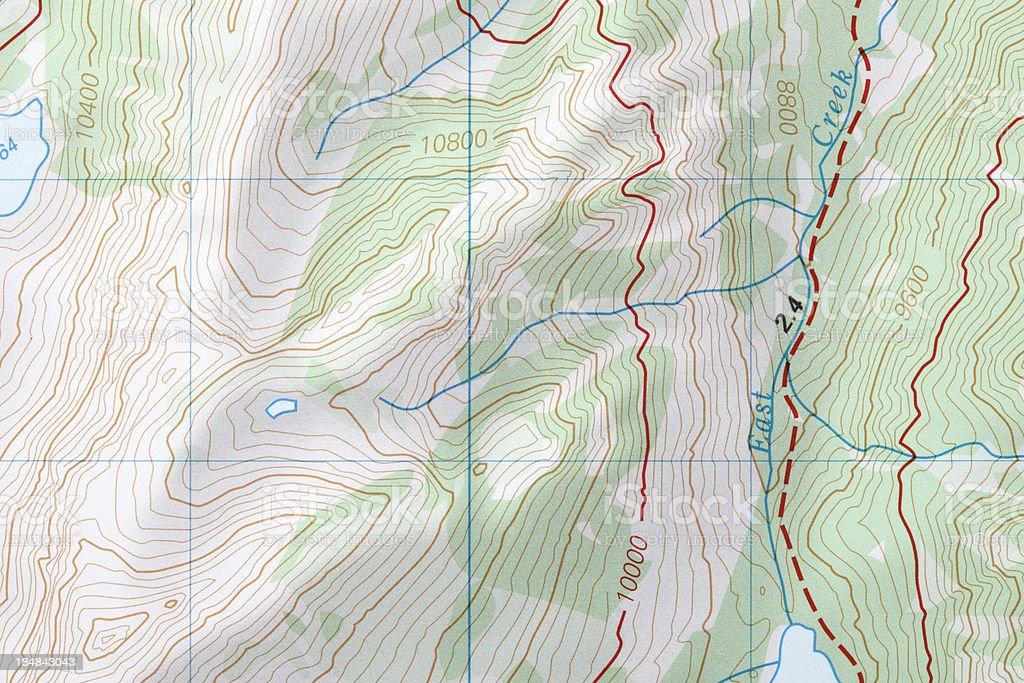 Generic Map royalty-free stock photo
