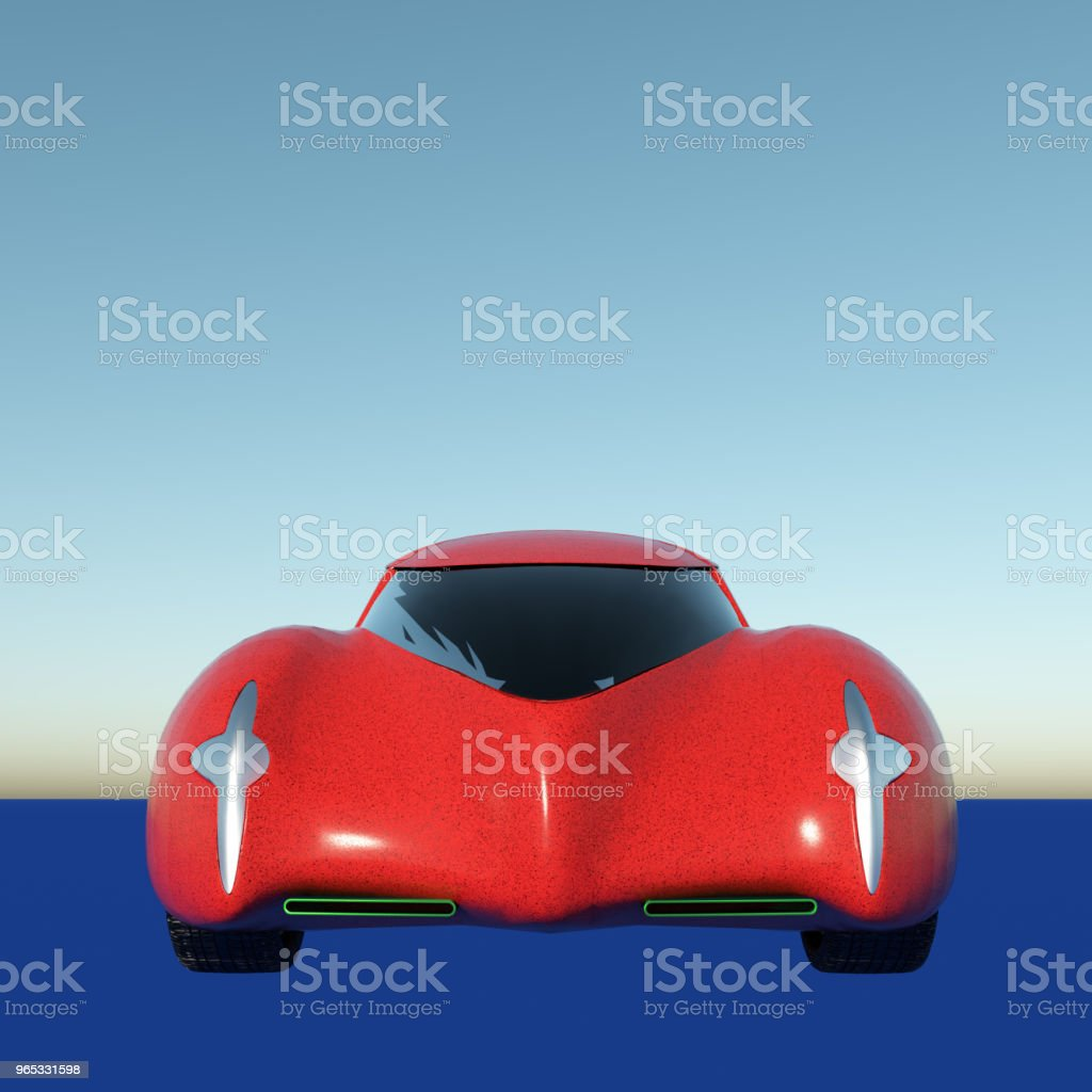 Generic model of a car 3d rendering royalty-free stock photo