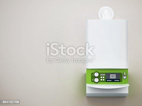 istock Generic modern boiler in house interior 944102706
