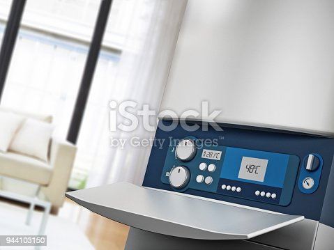 istock Generic modern boiler in house interior 944103150