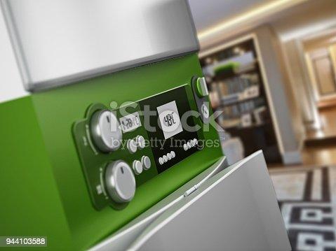 istock Generic modern boiler in house interior 944103588